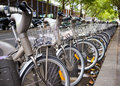 Bikes for rent Royalty Free Stock Photo