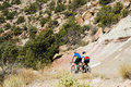 Biking in Colorado Nat Monument Stock Images