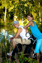 Biking couple Royalty Free Stock Photography
