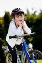 Biking girl Royalty Free Stock Photos