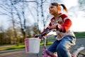 Biking happy Royalty Free Stock Photo