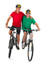 Biking together Stock Photography