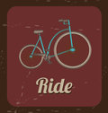 Biking vintage ride bicycle over background vector illustration Royalty Free Stock Images