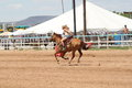 Bikini Barrel Racing Home Stretch Stock Images