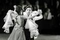 Bila Tserkva, Ukraine. February 22, 2013 International open dance sport competition Stars of Ukraine 2013. Couple kids dancing. B