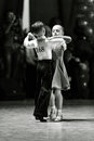 stock image of  Bila Tserkva, Ukraine. February 22, 2013 International open dance sport competition Stars of Ukraine 2013. Young ballroom dancers