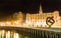 Bilbao city hall at night Royalty Free Stock Photo