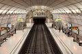 Bilbao metro station Royalty Free Stock Photos