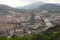 Bilbao september panoramic view of city and the guggenheim museum on september in bilbabo spain Royalty Free Stock Photo