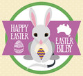Bilby with a Paschal Egg for Australian Easter, Vector Illustration Royalty Free Stock Photo