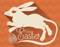 Bilby Silhouette for Australian Easter Celebration, Vector Illustration Royalty Free Stock Photo