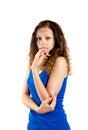 Bild av den lyxiga försiktiga kvinnan Fotografering för Bildbyråer