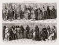 1874 Bilder Costume Print of Catholic Clergy and Sacred Church Orders