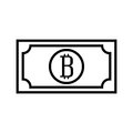 Bill with bitcoin symbol