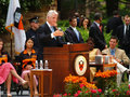 Bill Clinton attended the Princeton Graduation Royalty Free Stock Photos