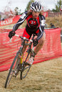 Bill Elliston - Masters Cyclocross Racer Stock Image