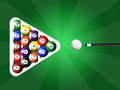 Billards Photographie stock libre de droits