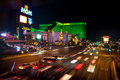 Billas motion gatan vegas Royaltyfri Bild