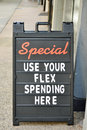 Billboard a advertising a flex spending special Stock Photos