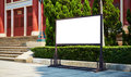 Billboard blank empty outdoor advertising display board Royalty Free Stock Images