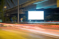 Billboard in the city street, blank screen clipping path included Royalty Free Stock Photo