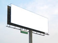 Billboard over blue sky and white cloud Royalty Free Stock Photography