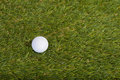 Bille de golf sur la zone d'herbe Images stock
