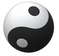 Bille de Yin-Yang Photos stock