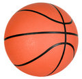 Bille orange de basket-ball Photo stock