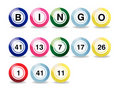Billes de bingo-test Images libres de droits