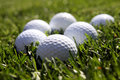 Billes de golf Photos stock