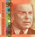 Billet de banque actuel du Canadien $50 Photographie stock libre de droits