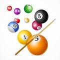 Billiard Ball Concept. Vector