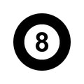 Billiard ball eight isolated icon Royalty Free Stock Photo