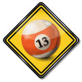Billiard ball number 13 Royalty Free Stock Photo