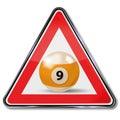 Billiard ball number nine Royalty Free Stock Photo