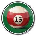 Billiard ball number 15 Royalty Free Stock Photo