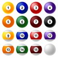 Billiard ball set Stock Image