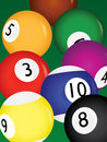Billiard balls Royalty Free Stock Photography