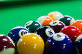 Billiard balls close up of Stock Images
