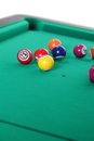 Billiard balls on table Stock Photo