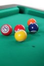 Billiard balls on table Royalty Free Stock Photo