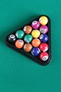 Billiard balls on table Stock Photos