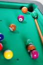Billiard balls on table Stock Photography