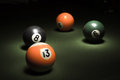 Billiard balls on the table Stock Images