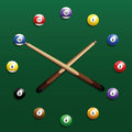 Billiard Clock Royalty Free Stock Photo