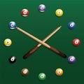 Billiard Clock Royalty Free Stock Photo