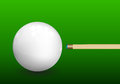 Billiard cue aiming on ball snooker with green background vector illustration Stock Image