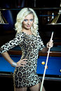 Billiard girl Stock Photography