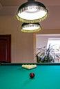 The billiard hall on a mansard floor Royalty Free Stock Photo